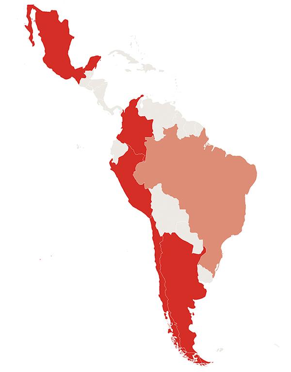 Huawei's penetration in Latin America
