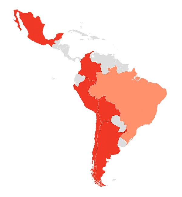 Huawei's penetration in Latin America