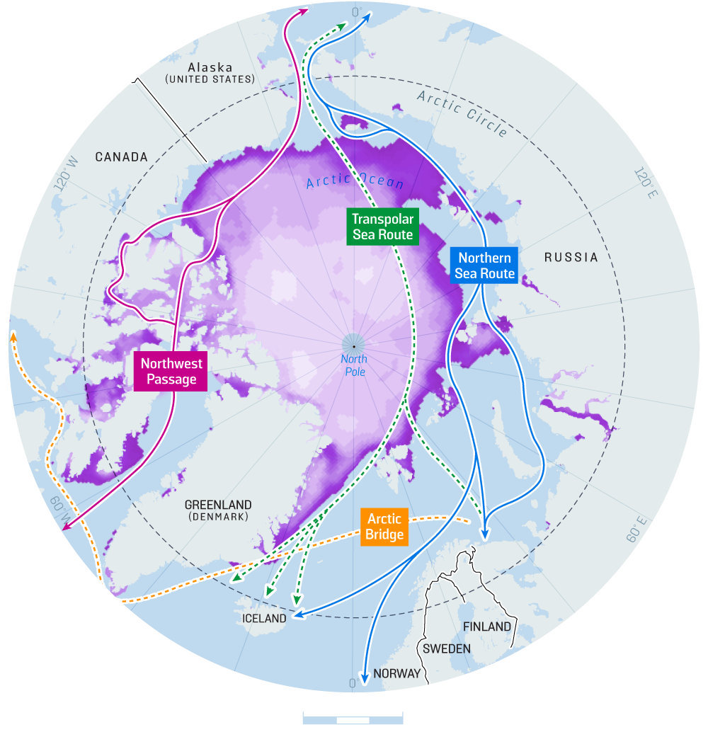arctic shipping routes ice