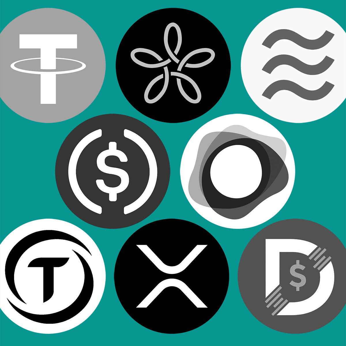 Illustration of different stablecoins