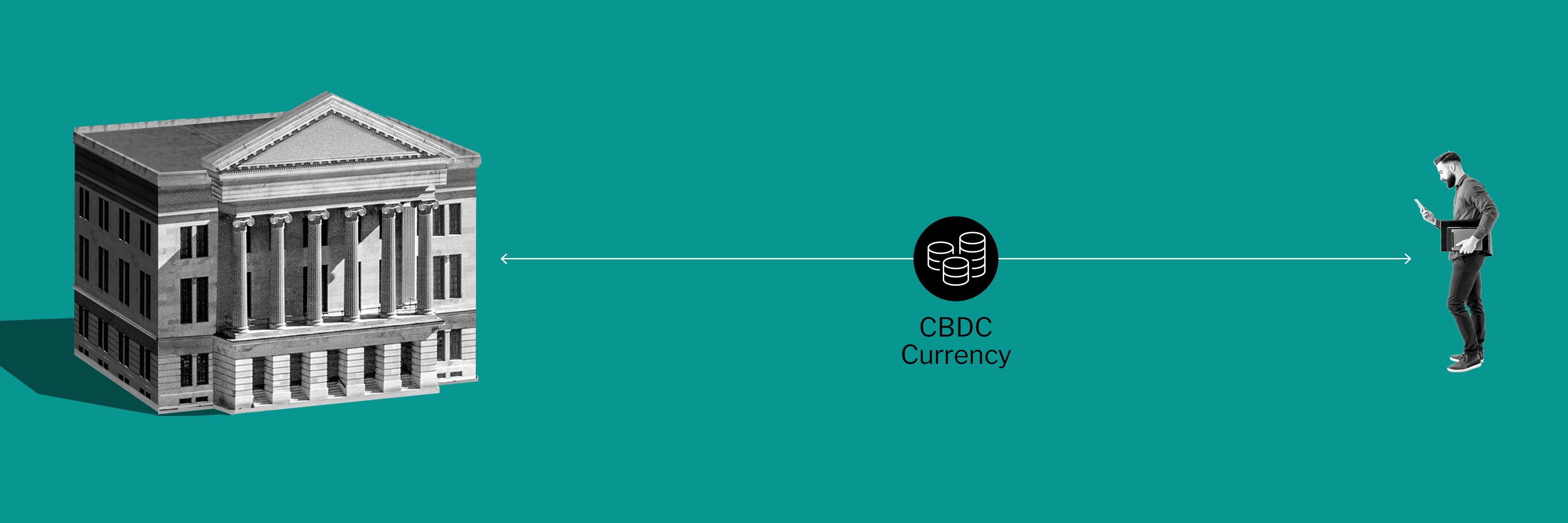 Illustration depicting direct CBDC model
