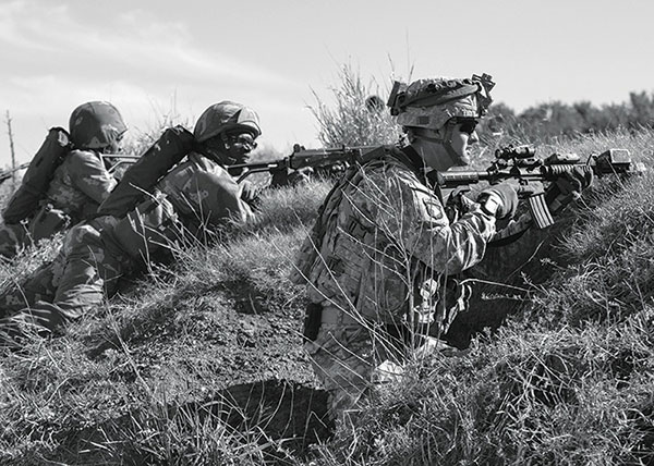 US Army soldiers train with South African soldiers