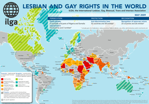 Homosexuality is still punishable by death in five countries
