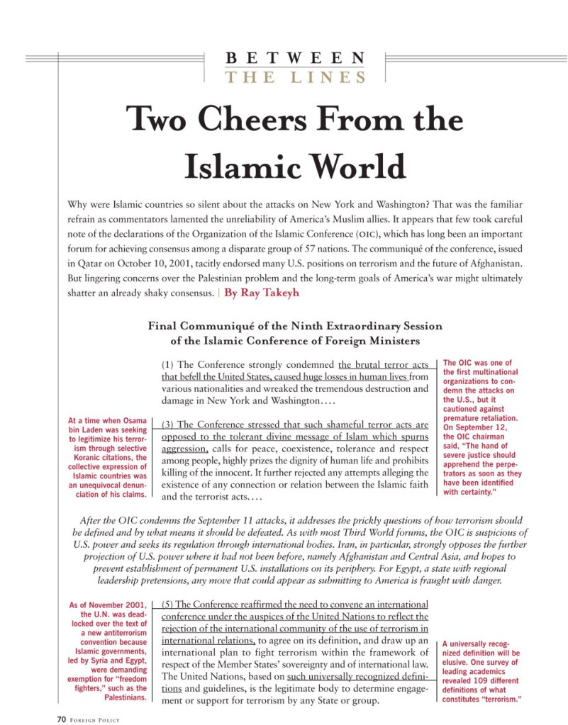 Two Cheers From The Islamic World Foreign Policy