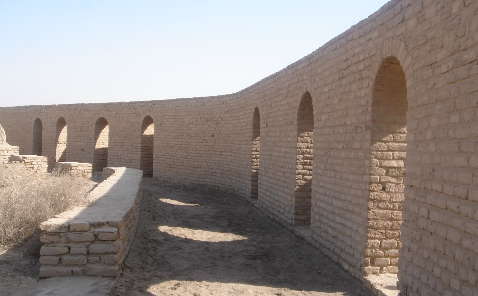 The birthplace of the biblical Abraham in Ur, which was restored by Saddam Hussein in the 1990s in hopes of enticing the pope to visit Iraq.