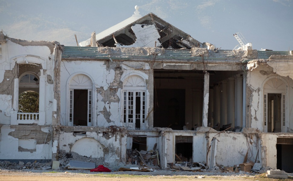 The ruins of the Presidential Palace on Jan. 13,   2012.