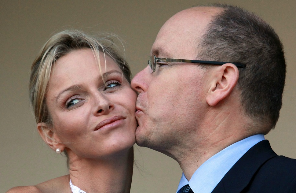 The couple: Prince  Albert of Monaco and Princess Charlene.      Love lesson: The road to true love never  runs smooth.      Still wearing wedding-day white,  Princess Charlene, lends a  cheek to her husband, Prince Albert of Monaco, before a meeting with South African  President Jacob Zuma in Durban, South Africa, on July 6, 2011. Princess  Charlene, who trained for South Africa's Olympic swim team, is used to staying  active, but after juggling a honeymoon that was both business and pleasure and dodging rampant  rumors over her much older  husband's infidelity,  the 33-year-old princess might need a breather.