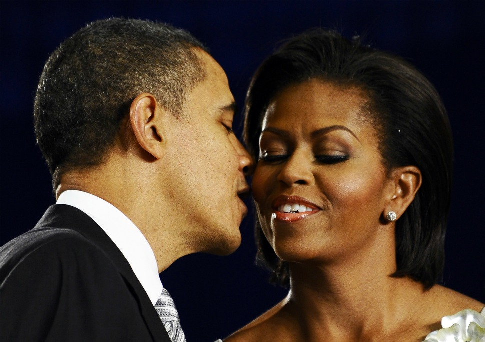The couple: U.S.  President Barack Obama and his wife, Michelle.      Love lesson: Marriage can be fun, if you do it right.           We know  President Obama loves to sing  love songs to the First Lady,  and recently  to the rest of the world,  but the president probably had a few sweet sweet nothings whispered into his ear by Michelle before signing into law the  Healthy, Hunger-Free Kids Act of 2010  at Harriet Tubman Elementary School in Washington, D.C. on Dec. 13, 2010. Their balance  of romance and practical mutual support is the gold standard for happy wedlock.  For years, the couple has been hungry  for each other's affection and intellectual appetites, and is known for their blissful  balance and graceful dances.
