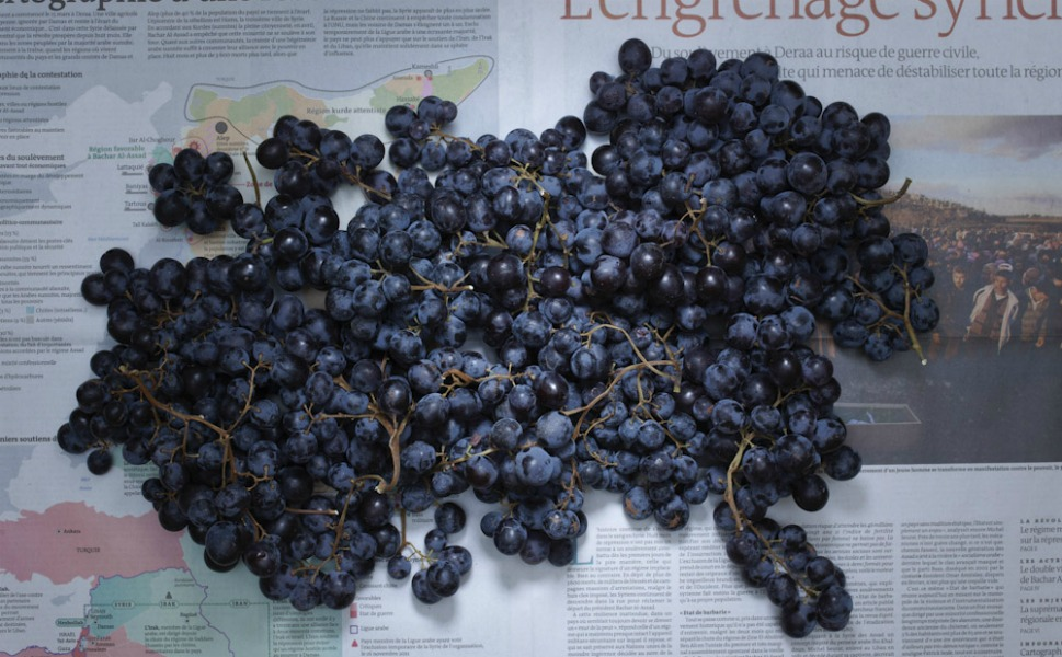 5.60 euros of French grapes.
