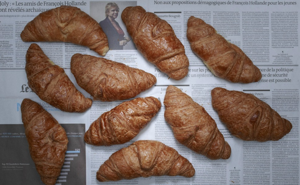 5.60 euros of French croissants.