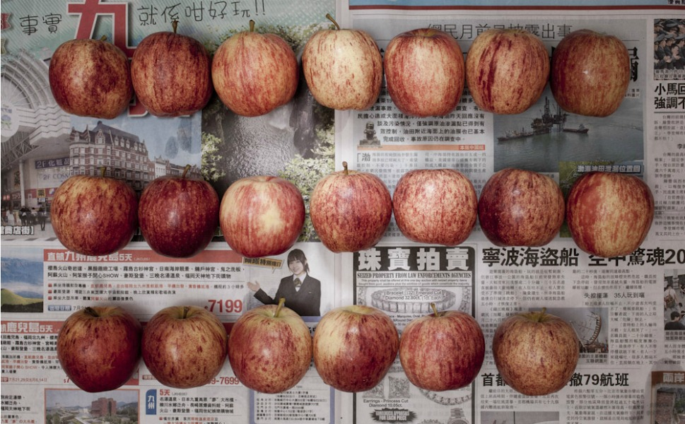44.96 Hong Kong dollars, or 5.79 U.S. dollars, of apples.