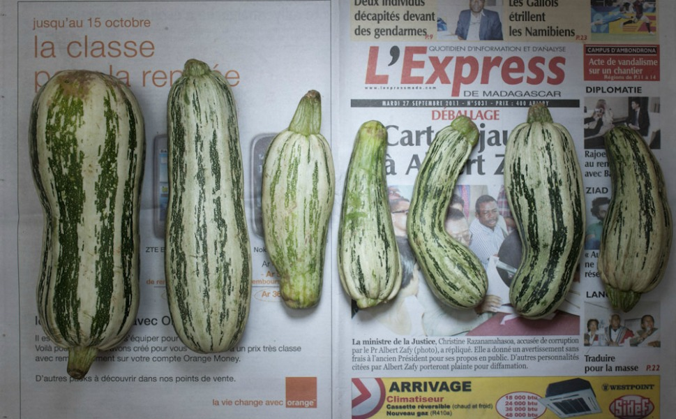 1,284 Malagasy ariary, or 0.58 U.S. dollars, of cucumbers from Madagascar.