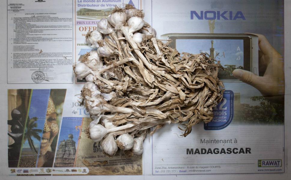 1,284 Malagasy ariary of garlic.