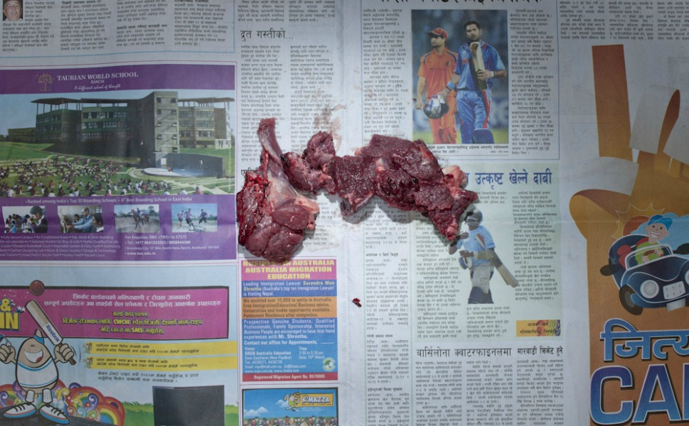 32.88 Nepali rupees of buffalo meat.