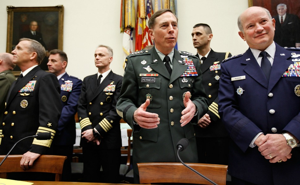 """Al Qaeda in the Arabian  Peninsula (AQAP), which finds most of its safe havens in Yemen, has evolved  into arguably the most deadly of the infamous terrorist organization's  """"franchises."""" As a result, U.S. policy toward Yemen is viewed almost  exclusively through the prism of counterterrorism.      Here, U.S. Army Gen. David  Petraeus, Navy Adm. Eric Olson, and Air Force Gen. Duncan McNabb prepare to  testify during a hearing before the House Armed Services Committee March 17,  2010, in Washington. Petraeus, now the CIA director, addressed U.S. efforts in  Yemen, Pakistan, and the creation of a """"Cyber Command"""" to defend the United  States from computer attack."""