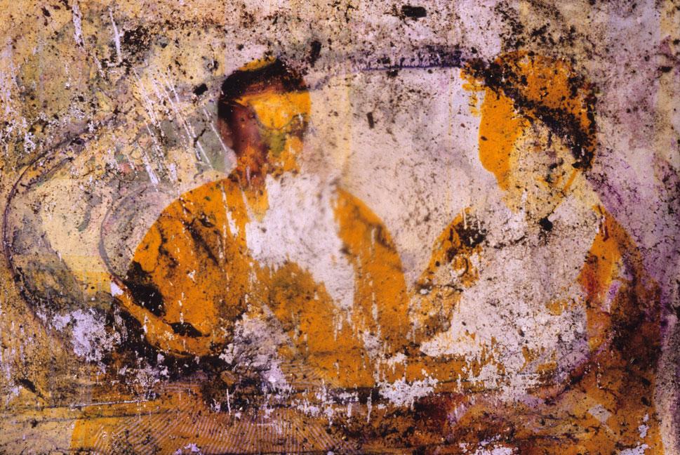 A damaged photograph.