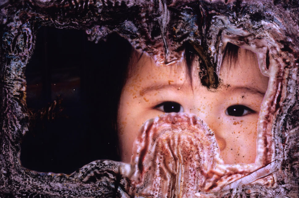A close up of a child.