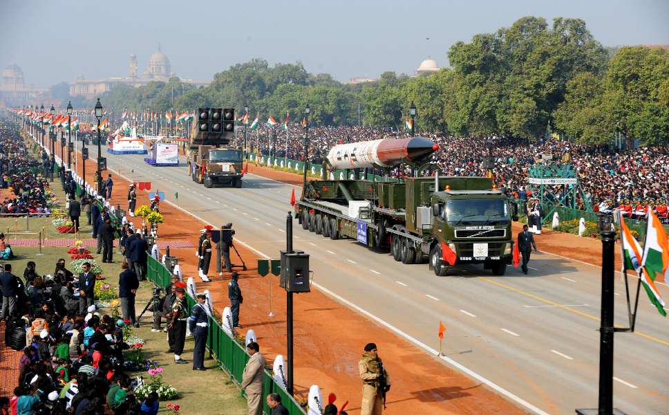 """India grabbed global headlines on April 19 by announcing the successful test of a missile capable of carrying a nuclear warhead as far as Beijing. Those not paying attention might be surprised by this display of military might -- India has now joined the U.N. Security Council permanent members and Israel in the small club of nations who can launch an inter-continental nuclear weapon -- but as  FP's Joshua E. Keating pointed out in 2011's """"Stories You Missed,"""" the country's military build-up has been rapidly accelerating as of late. As he noted,  a 2011 report by arms watchdog organization SIPRI  said that India accounts for 9 percent of  international arms transfers from  2006 to 2010, and will spend up to $80 billion on  military modernization efforts by 2015.      The Indian government has expressed strong commitment to  investments in long-term military capabilities, with a steady 2.5 to 3 percent  of its GDP used on defense spending. As a result, the country's defense budget  has increased  64 percent since 2001. Here are just a few of the  items on India's military shopping list."""