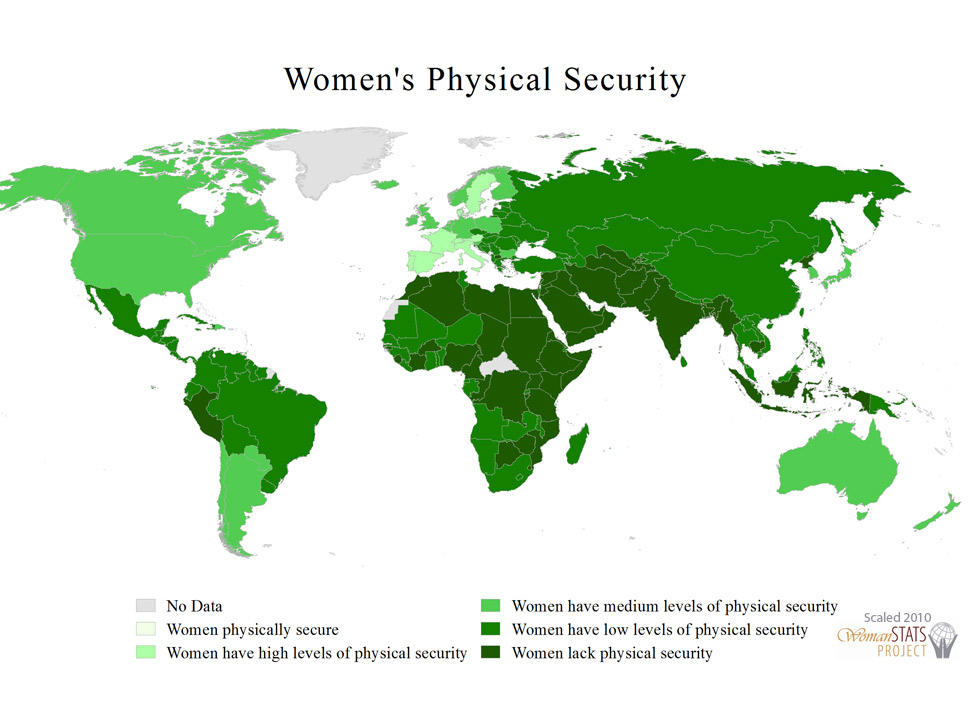 Physical security of women: This multivariate scale captures how  vulnerable women are to various forms of physical assault, including murder,  rape, and domestic violence.