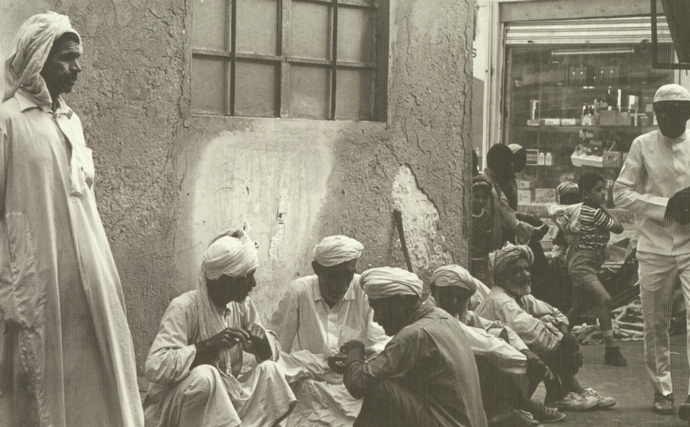 Men gather in al-Naif souq, one of the oldest traditional markets in Dubai. It was partially damaged by a fire in 2008 -- but the fabulously wealthy emirate decided that this was one of the cultural landmarks that it wanted to keep around. The souq was rebuilt in 2010.