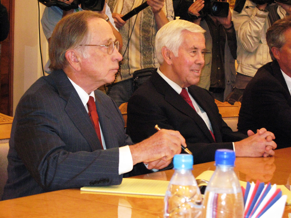 Nunn and Lugar in 2007/ David E. Hoffman