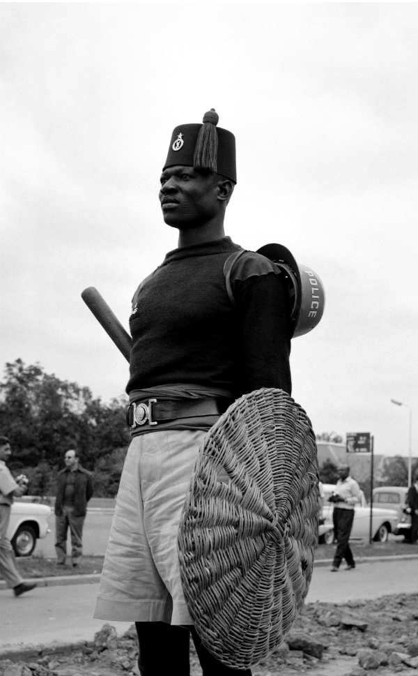 The U.N. mission in the Congo, which began in 1960, was the   organization's first peace enforcement operation (a peacekeeping mission  that uses force to implement its mandate) and the first mission to draw  extensively on sub-Saharan African nations, many of which had only   recently gained independence. Ghana, which gained independence from the   United Kingdom in 1957, was the first sub-Saharan African nation to   strike out on its own and among the first to participate in a U.N.   peacekeeping mission. (A Ghanaian, Kofi Annan, would later become the   top peacekeeping official at the United Nations and the   secretary-general of the organization.)  Ultimately, the Congo mission -- which cost the life of U.N.   Secretary-General Dag Hammarskjold, who died in a plane crash while   pursuing peace in the country -- was so traumatic that it led to a   general retreat by the international community from peacekeeping. In the  early 1980s, President Ronald Reagan's administration took a dim view   of the efficacy of U.N. peacekeepers, sending U.S. Marines, who were   joined by French soldiers, to try to keep the peace in southern Lebanon.      In this 1960 photo, a Ghanaian officer stands patrol in Leopoldville.