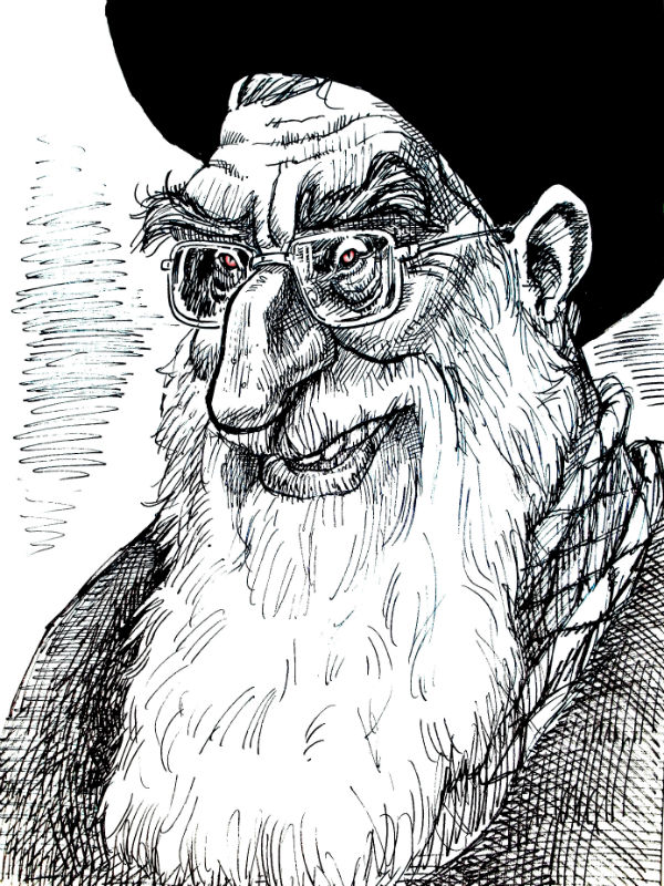 Depicting senior clergy is a major taboo in Iranian publishing. Here, Kowsar, depicts a figure untouchable in Iran's domestic media -- Supreme Leader Ayatollah Ali Khamenei.