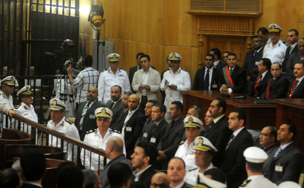 A general view shows the court during Mubarak's verdict hearing on June 2.