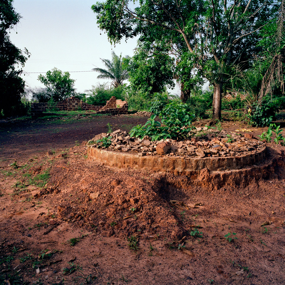 The rubble of former homes in Niambli,  Ivory Coast on March 13, 2012. Niambli, a village divided between local and  foreign ethnic groups, was the site of heavy fighting between Gbagbo and Ouattara supporters.