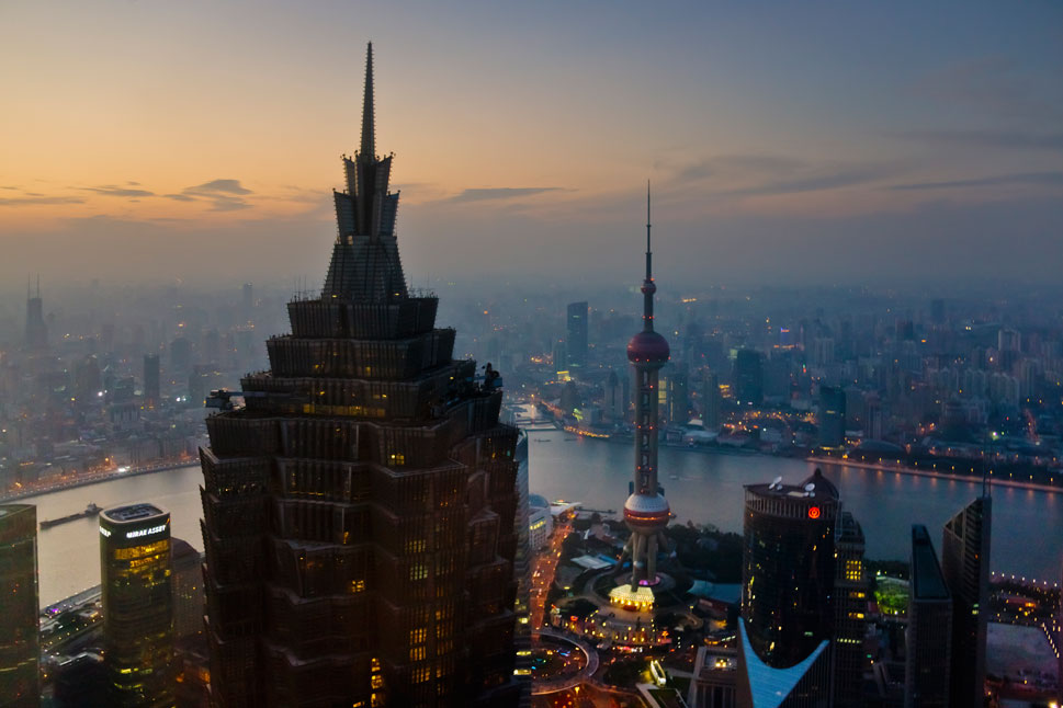 Foreign Policy's index of the 75 most dynamic global cities contains more than a few surprises, but perhaps none more so than the fact that 29 of these cities are in China -- far and away the most of any country on the list. As part of its mad dash toward modernization, China has rapidly urbanized, spawning a slew of massive cities whose size is only tempered by the surprising fact that most people in the West have never heard of them. Despite their relative anonymity, these are the cities likely to drive the world economy during coming decades. Some are high-tech manufacturers; others are bathed in smoke produced by the factories that not long ago were a common sight in Western countries. Meet the 29 Chinese cities powering global growth.      Shanghai: Although Shanghai had no skyscrapers in 1980, it now has at  least 4,000 -- more than twice as many as New York. In 2010, 208 million square  feet of real estate, nearly 80 times the square footage of New York's massive One World Trade  Center, was constructed in the city. Above, the Jinmao Building and Oriental Pearl TV Tower can be seen dominating the Shanghai skyline as its rises from the banks of Huangpu River.