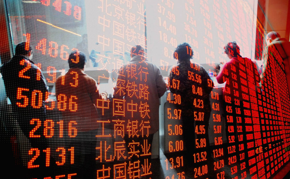 Shenyang: In 1986, Shenyang became the first mainland Chinese city  after the 1949 communist takeover to open a securities market and the first to  allow a company to go bankrupt. Above, investors watch the electronic display board at a stock exchange in Shenyang in October 2009.