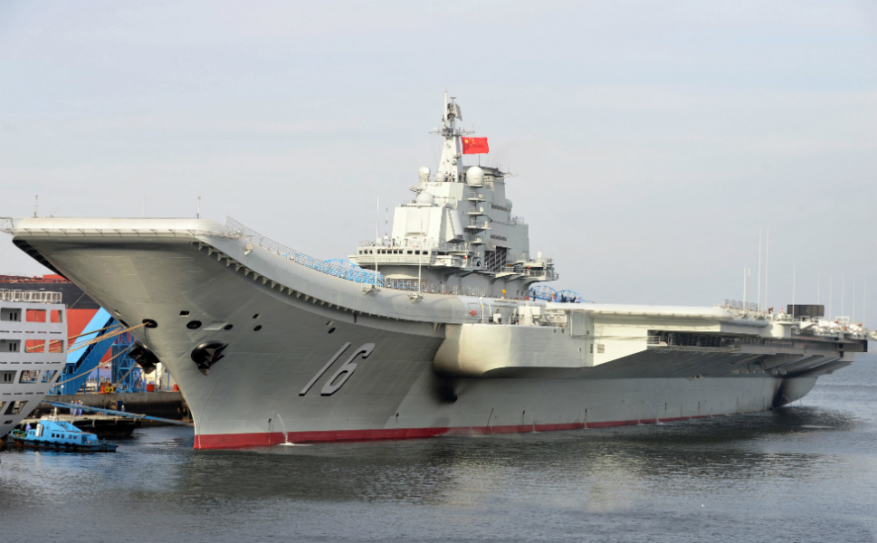 "China finally has its very own -- ostensibly functional-- aircraft carrier, named Liaoning. As Andrew Erickson and Gabriel Collins explain in a recent article for FP,  the Chinese had to overcome multiple obstacles, and ""All  [those watching the Liaoning] must have felt the weight of history on their  shoulders as they witnessed the unfulfilled ambitions of their civilian and  military predecessors. This milestone was a long time coming."" The Liaoning  was originally the Varyag, a Soviet  vessel that was purchased by China from Ukraine. After years of retrofitting, as  of Sept. 25 the Liaoning is finally  entering service in the People's Liberation Army Navy, but its capabilities are  largely unproven and sea tests of the ship have stayed close to its home port  in Dalian. Above, the Liaoning  appears at the Dalian shipyard before being commissioned."