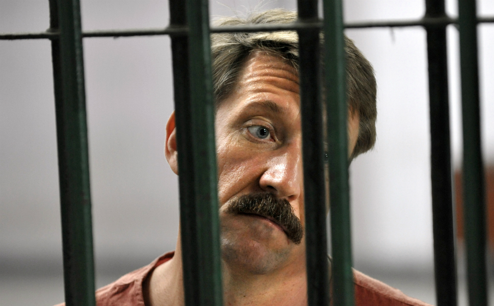 """The Russian arms dealer known the """"merchant of death"""" may  finally have been brought  to justice after his arrest in Thailand in 2008, but during the 1990s and  early 2000s, his fleet of Russian planes was a ubiquitous  presence in conflicts from Angola to Sierra Leone to Colombia. Viktor Bout often  sold weapons to both sides of the same conflict -- the Taliban and the Northern  Alliance in Afghanistan, for one -- and was in business with global baddies  from Charles Taylor, to Muammar al-Qaddafi, to Mobutu Sese Seko. He even helped  the Pentagon supply weapons to Iraq's army. Thus far, Bout's life has  inspired only a mediocre Nicolas  Cage movie, but it would probably take a 007 film to do him justice."""