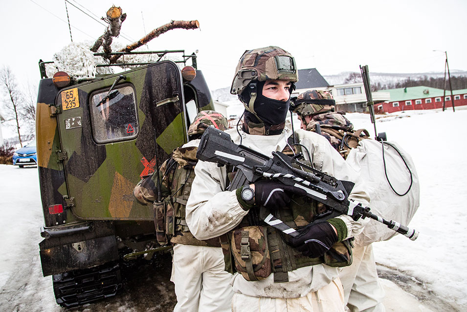 "In March, over  16,000 soldiers from 16 countries traveled to the Arctic Circle to participate in Exercise Cold Response. Led by the Norwegian Armed Forces, this series of  ""high-intensity"" combat operations emphasizes ""extreme cold-weather"" training in Norway's wintry weather, with temperatures dropping as low -13 degrees Fahrenheit. Among the participating countries were the United States, France, Britain, Germany, and France, among others. These joint-training exercises have been conducted since 2006, training that includes tanks, airplanes, helicopters, ships and submarines, live-fire exercises, night patrols, and intensely realistic medical evacuation drills.      The Norwegian Armed Forces website warns  attendees to take special precautions to keep warm, recommending woolen, wind-resistant mittens, as well as cautioning to keep an eye out for moose and reindeer. But you can't practice for war without taking risks, and the training conducted in Exercise Cold Response is dangerous. And though the ""focus on safety and  preventing accidents is high,"" there have been ""a couple of serious  accidents ... through the years. These accidents have in  total claimed seven lives, two in a tank accident in 2006 and five in a plane  crash in 2012.""      For upwards of two weeks, these soldiers train together in the sleet, slush, and snow. As commander of the Norwegian Joint Headquarters, Lt. Gen. Morten Haga Lunde, head of Exercise Cold Response, reportedly said: ""If a soldier  can operate under extreme Arctic conditions, he can operate anywhere.""        In the photo  above, Norwegian soldiers work closely  with soldiers from the French 27th Mountain Infantry Battalion during Exercise Cold Response.      Audun Braastad,  Norwegian Armed Forces"