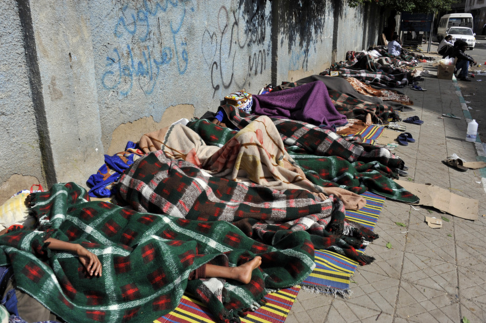 23. Eritrea, 95.5        Despite the poverty and periods of drought that have left residents struggling for food and water, it is brutal repression perpetrated by the Eritrean government that makes life in this secretive East African nation impossible for so many. In a November 2013 statement on human rights in the country, Sheila B. Keetharuth, special rapporteur for the United Nations, noted that government abuses -- including an indeterminate period of forced national service -- is what drives so many Eritreans to undertake life-threatening journeys across the Sahara desert and Mediterranean Sea in their attempts to flee the country.      Above, Eritrean refugees sleep on a sidewalk while waiting for help from the UNHCR in Sanaa, Yemen on May 3.      EPA/Yahya Ahrab