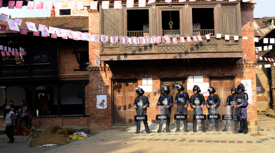31. Nepal, 91.0        Home to 125 different ethnic groups, this underdeveloped landlocked country has struggled to achieve stability after the end of its decade long civil war, waged between Maoists and the government, in 2006. While the country has made some progress on political reconciliation -- elections in November 2013 were deemed free and fair by international observers -- the government has, according to rights groups, failed to hold perpetrators of crimes throughout the civil war to account.      Above, Nepalese police officers stand alert as an unseen Chairman of the United Communist Party of Nepal (Maoist), Pushpa Kamal Dahal, visits residents door-to-door during an election campaign on the outskirts of Kathmandu on Oct. 29, 2013.      Prakash Mathema/AFP/Getty Images