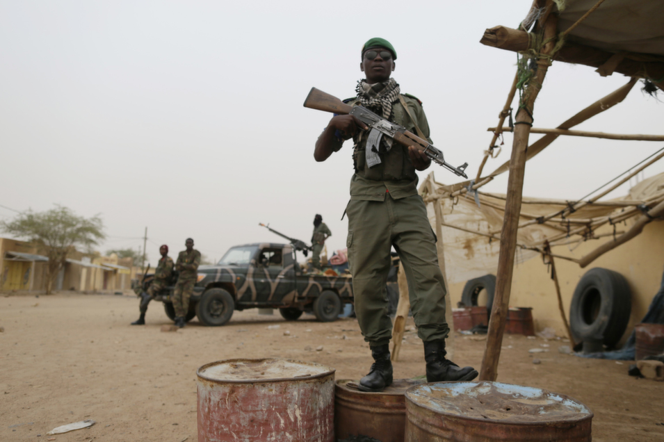 36. Mali, 89.8        Mali struggled to maintain the fragile peace that was established in the wake of France's military intervention against Islamist insurgents in early 2013 -- an alliance of Tuareg rebels and Islamist militants that had taken control of much of the country's north.      Above, Malian soldiers patrol in Kidal, northern Mali, on July 27, 2013.      Kenzo Tribouillard/AFP/Getty Images