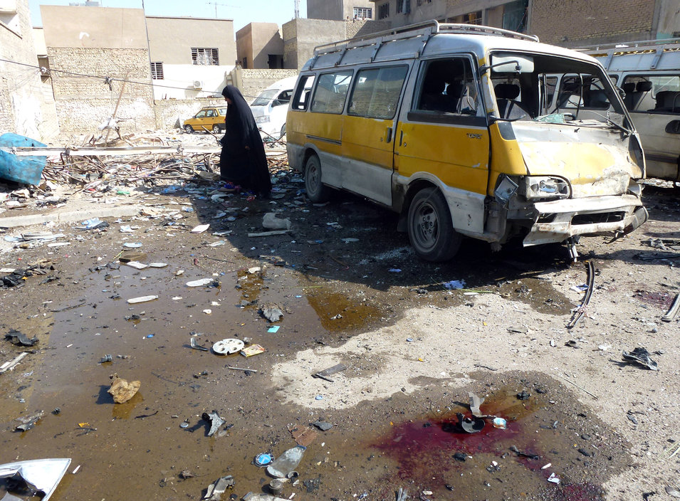 13. Iraq, 102.2        The situation in Iraq continued to deteriorate in 2013, which saw the country slide even closer toward full-blown sectarian war between Sunni insurgents and supporters of Prime Minister Nouri al-Malaki's Shiite-led government. The number of civilian casualties more than doubled from the previous year, with deadly bombings and armed attacks becoming almost daily occurrences. Though recent events in Iraq weren't factored into this year's rankings, 2013 served as a prelude to what appears likely to be an even more violent 2014: in January, two key cities in Sunni-dominated Anbar province, Ramadi and Fallujah, fell to the militant group the Islamic State of Iraq and al-Sham (ISIS), and in June, over the span of a few days, ISIS managed to overrun Mosul, Iraq's second largest city.      Above, an Iraqi woman walks across debris following an explosion at a bus center on Oct. 27, 2013, in the Mashtal district of Baghdad.      Sabah Arar/AFP/Getty Images