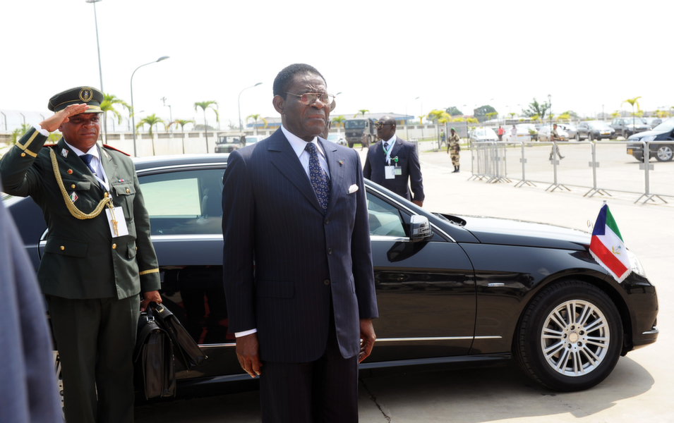 Equatorial Guinea        President Teodoro Obiang Nguema Mbasogo, Africa's longest serving head of state, maintains virtually complete control over Equatorial Guinea's economic and political life, enriching his family and associates at the expense of the rest of the nation. Although Equatorial Guinea is Africa's third largest producer of oil and has the highest GDP per capita on the continent three-quarters of the population lives in poverty. Authorities arrested opposition figures in advance of parliamentary elections, further stifling dissent.      Above, Equatorial Guinea President Teodoro Obiang Nguema arrives for the New York Forum in Libreville, Gabon, on June 14, 2013.       Steve Jordan/AFP/Getty Images