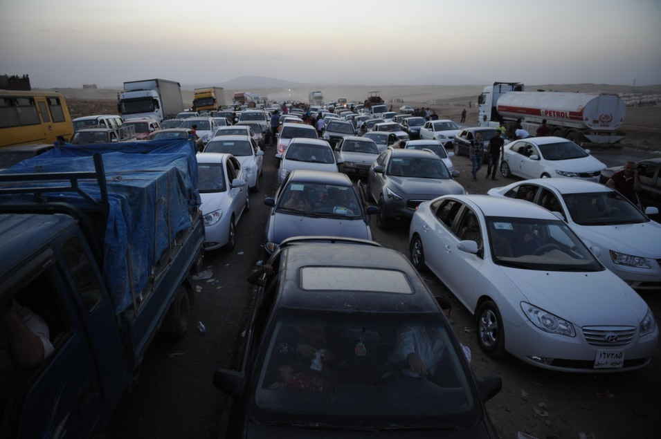 Thousands of Yazidi  and Christian people flee Mosul to Erbil after the latest wave of Islamic State  fighting that has seen a number of Iraqi cities fall.      Mustafa Kerim/Anadolu  Agency/Getty Images