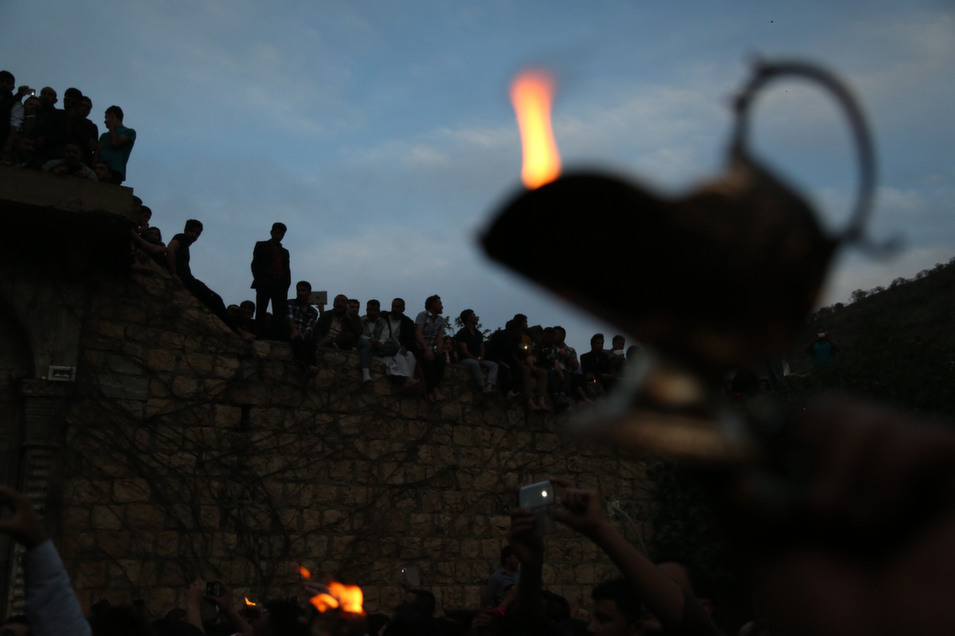 Yazidis gathered together for  their New Year celebration on April 16, one of the holiest days of the  year for the Yazidi.      Emrah Yorulmaz/Anadolu  Agency/Getty Images