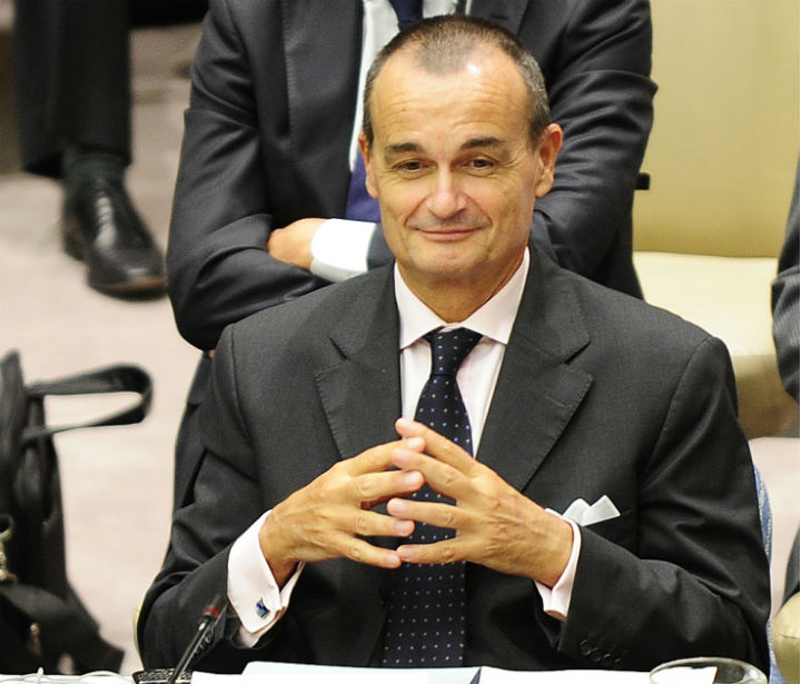 Gérard Araud, the French ambassador to the United Nations, attends a U.N. Security Council meeting at U.N. headquarters in New York on June 9, 2010. (Emmanuel Dunand/AFP/Getty Images)