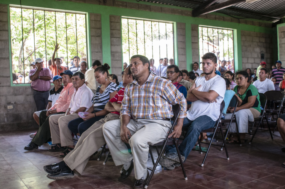 Residents at the town-hall meeting.