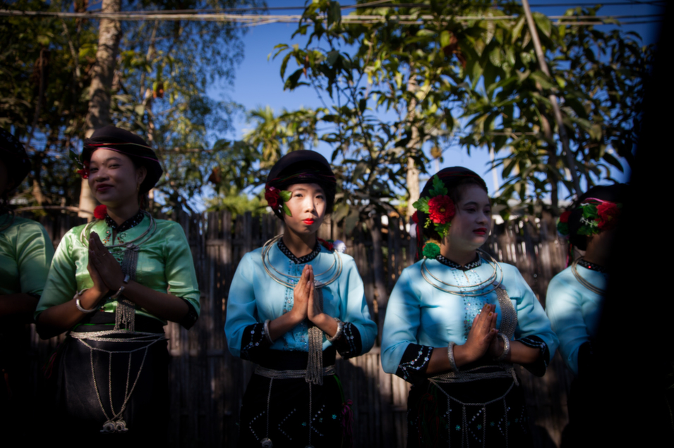 Women gather for a small New Year's celebration in Kachin state.      Diana Markosian