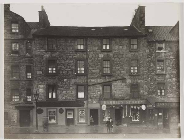 Apartments and shops near St. Leonard's, 1929.      National Library of Scotland