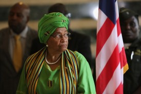 Liberian President Sirleaf And USAID Administrator Shah Hold Press Conference