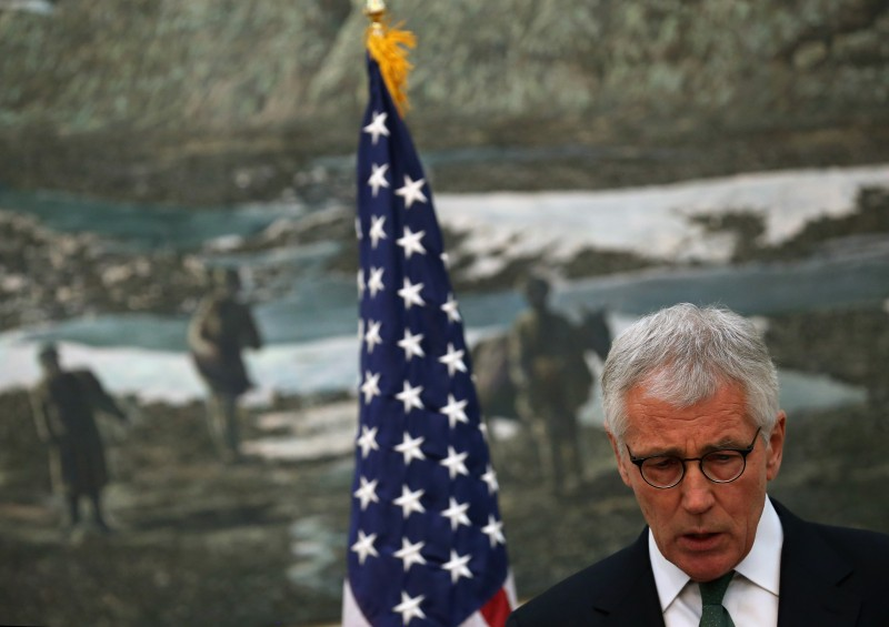 Secretary Of Defense Chuck Hagel Travels to Afghanistan