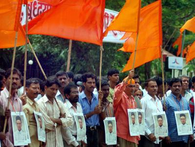 Indian Hindu rightwing Shiv Sena party w