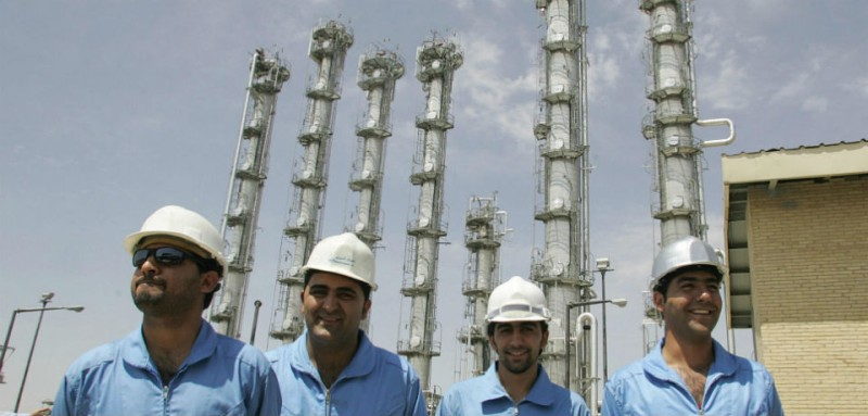 Iranian crew at the Arak nuclear complex
