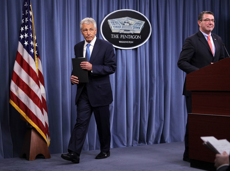 Defense Secretary Chuck Hagel Addresses The Sequestration